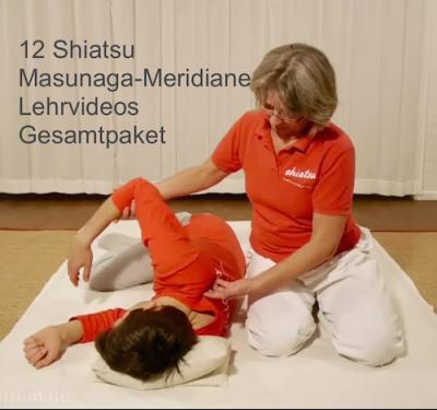 Shiatsu-Zentrum Shop für Lehrvideos Shiatsu 12 Masunaga-Meridiane Lehrvideos Gesamtpaket